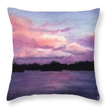Trout Lake Sunset I Throw Pillow