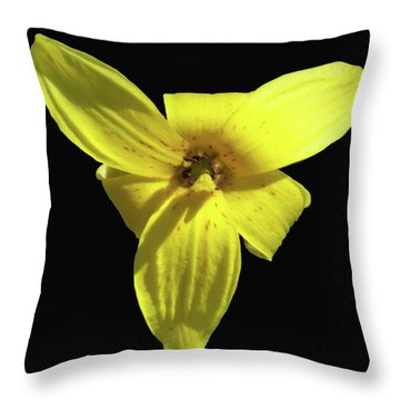 Trout Lily Throw Pillow
