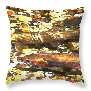 Trout Stream Throw Pillow by Greg Hammond