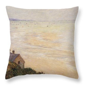 Trouville At Low Tide Throw Pillow by Claude Monet