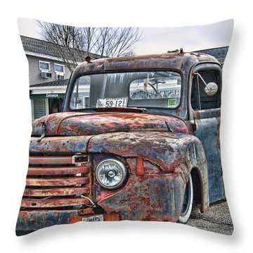 Truck A Treats Throw Pillow by Richard Bean