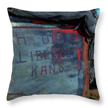 Truck Door Liberal Ks Throw Pillow