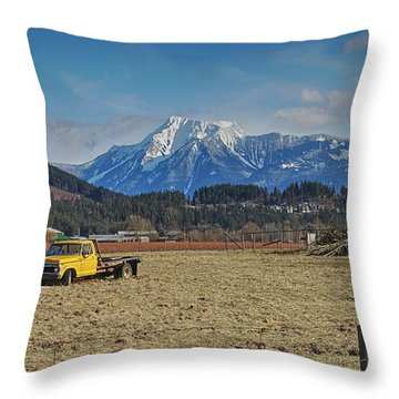Truck In Harison Mills Throw Pillow