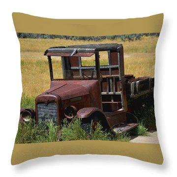 Truck Long Gone Throw Pillow