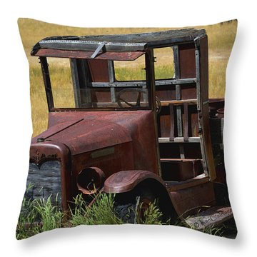 Truck Long Gone Throw Pillow by Kae Cheatham