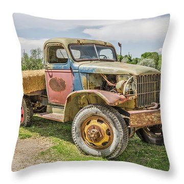 Throw Pillow featuring the photograph Truck Of Many Colors by Sue Smith