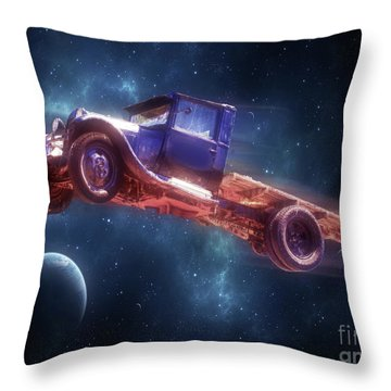 Truck Trek Throw Pillow