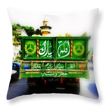 Trucking Across Lebanon Throw Pillow by Funkpix Photo Hunter