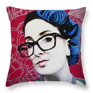 True Beauty - Nici Shipway Throw Pillow