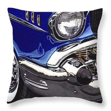 True Blue '57 Throw Pillow