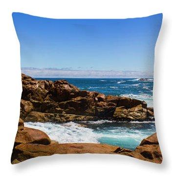 True Blue Aussie Coastline Throw Pillow