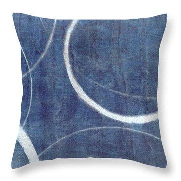 True Blue Ensos Throw Pillow by Julie Niemela