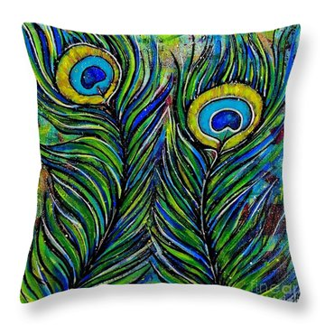 True Colors Throw Pillow by Julie Hoyle