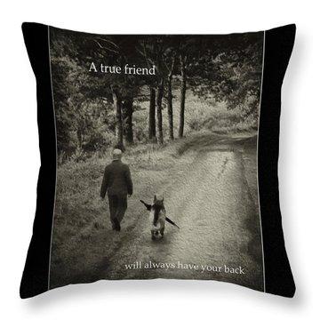 True Friend Throw Pillow