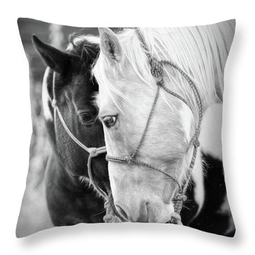 True Friends Throw Pillow by Sharon Jones