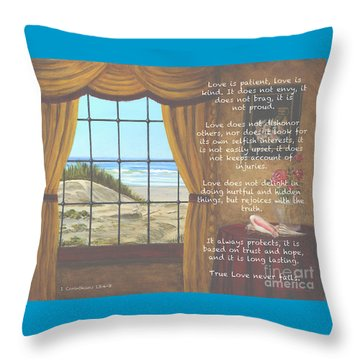 True Love Quote Throw Pillow