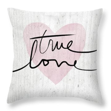True Love Rustic- Art By Linda Woods Throw Pillow