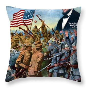 True Sons Of Freedom -- Ww1 Propaganda Throw Pillow