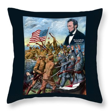 True Sons Of Freedom -- Ww1 Propaganda Throw Pillow by War Is Hell Store