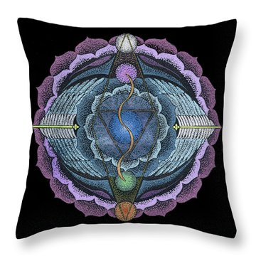 Throw Pillow featuring the painting True Voice by Keiko Katsuta