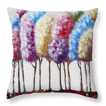 Truffula Forest Throw Pillow