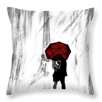 Throw Pillow featuring the painting Truly All Yours by Leslie Allen