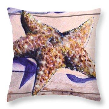 Trum L'oeil.star Fish Throw Pillow