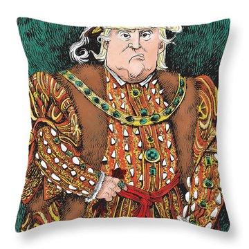 Trump As King Henry Viii Throw Pillow
