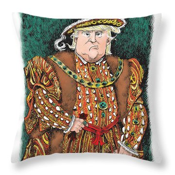 Trump As King Henry Viii Throw Pillow