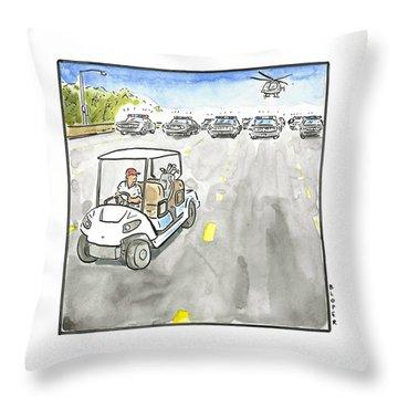 Trump Flees Throw Pillow