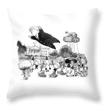Trump Parade Throw Pillow