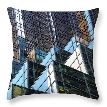 Throw Pillow featuring the photograph Trump Tower by Mitch Cat
