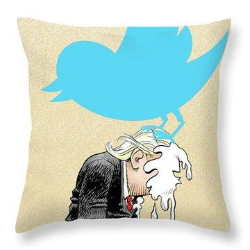 Trump Twitter Poop Throw Pillow