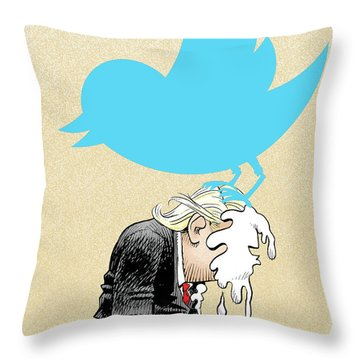 Trump Twitter Poop Throw Pillow
