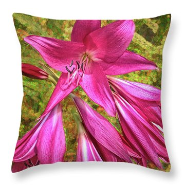 Throw Pillow featuring the photograph Trumpet Flowers by Lewis Mann
