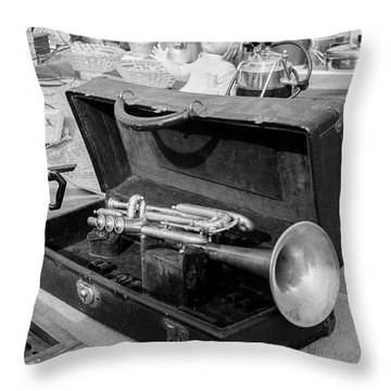 Trumpet For Sale Throw Pillow
