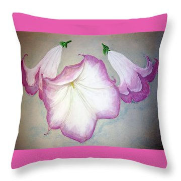 Trumpet Lilies Throw Pillow