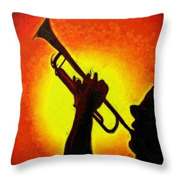 Trumpet Orange - Da Throw Pillow