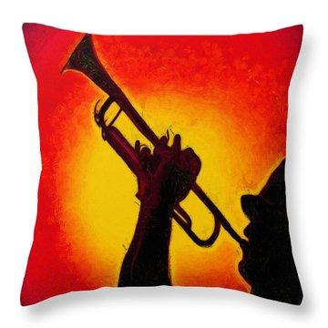 Trumpet Red - Da Throw Pillow