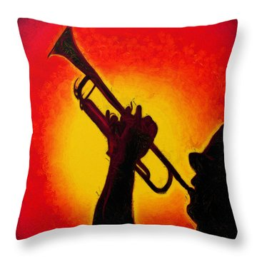 Trumpet Red - Pa Throw Pillow