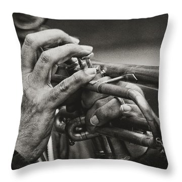 Trumpet Solo Throw Pillow by Pedro L Gili