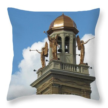 Trumpeting Angels Throw Pillow