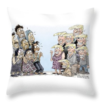 Trumpettes Horror Throw Pillow