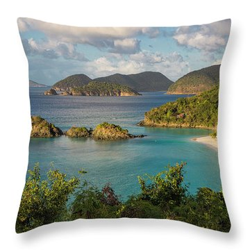 Throw Pillow featuring the photograph Trunk Bay Morning by Adam Romanowicz