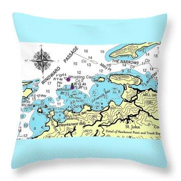 Trunk Bay, St. John Throw Pillow