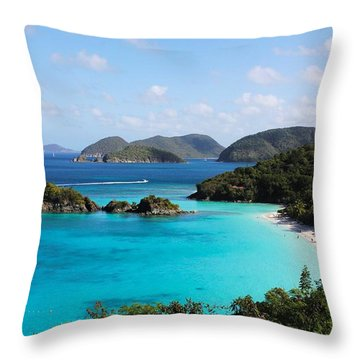 Trunk Bay, St. John Throw Pillow