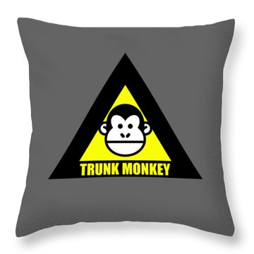 Trunk Monkey Throw Pillow