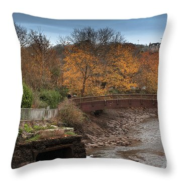 Throw Pillow featuring the photograph Truro River by Brian Roscorla