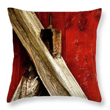 Trussed Bridge Throw Pillow