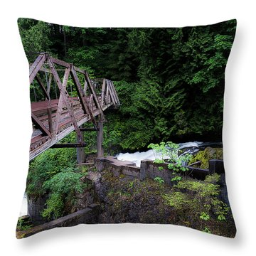 Throw Pillow featuring the photograph Trussting by Rhys Arithson
